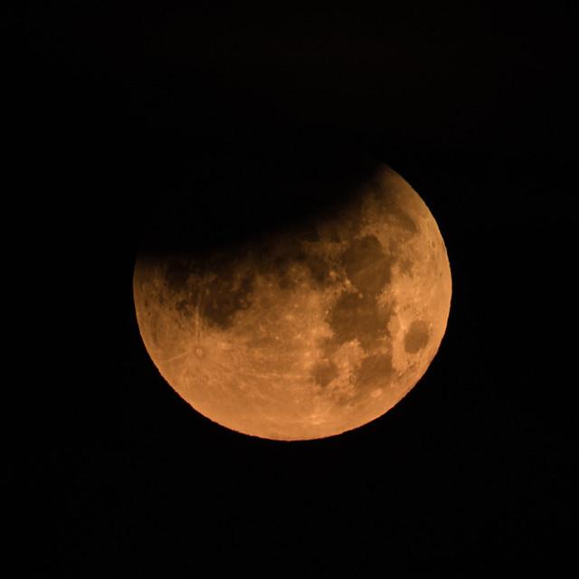 Partial Lunar Eclipse on 1-31-18