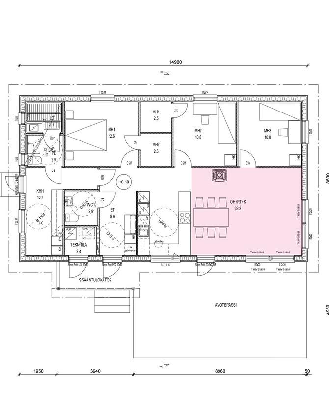 Uuden talon materiaalit
