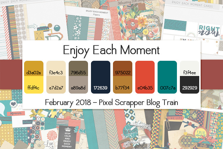 Pixel Scrapper February 2018 Blog Train