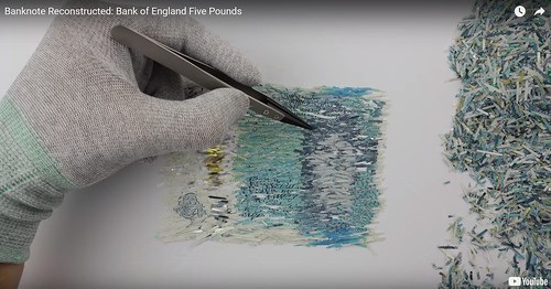 Reconstructing Bank of England Five Pound Note