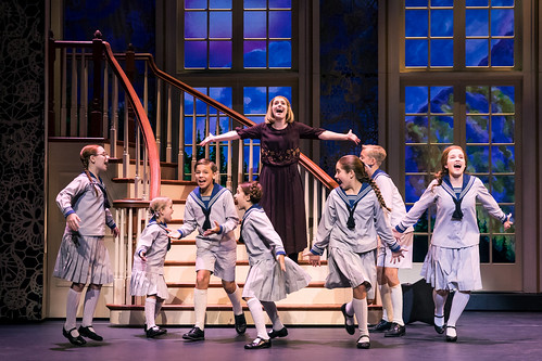 Jill-Christine Wiley as Maria Rainer and the von Trapp children. Photo by Matthew Murphy. From It Doesn't Matter How Many Times You've Seen the Movie - Here's Why You Need to See Sound of Music on Tour