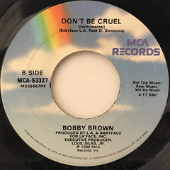 BOBBY BROWN:DON'T BE CRUEL(LABEL SIDE-B)