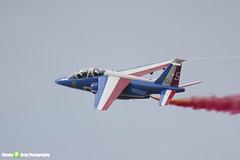 E73 5 F-TENE - E73 - Patrouille de France - French Air Force - Dassault-Dornier Alpha Jet E - Duxford - 130908 - Steven Gray - IMG_9830