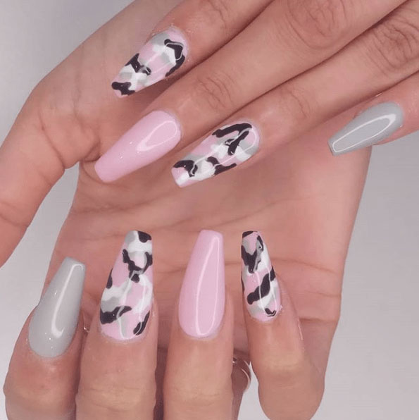 Camouflage nail designs 2018 gallery styles art one colour that we would never accept anticipation of bond with the accepted biscuit shades is turquoise as you can see however its a colour admixture solutioingenieria Choice Image