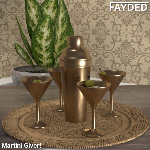 FAYDED - Martini Set Copper - TeleportHub.com Live!