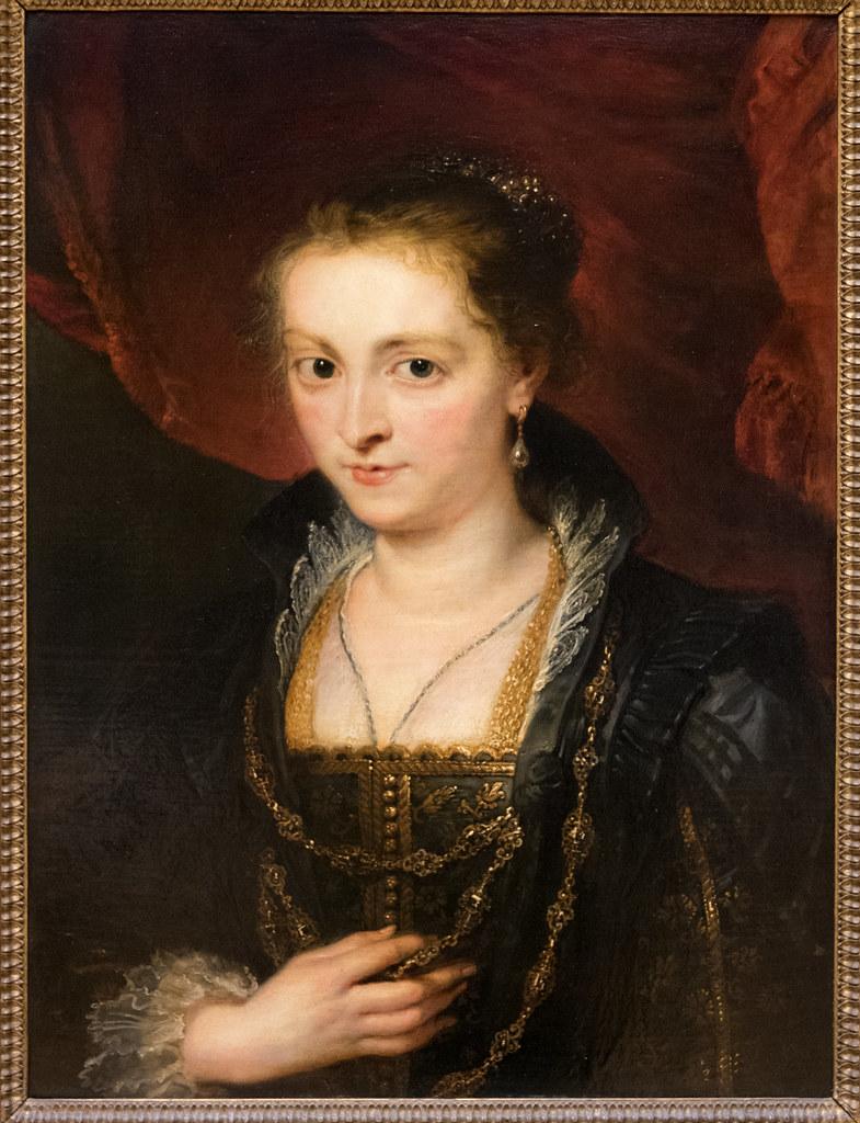 """Pierre Paul Rubens (1577-1640) """"Portrait en buse d'une Dame, anciennement dit portrait de Suzanne Fourment"""" c. 1620-1625 (huile sur bois) — musée du Louvre (Paris, France)"""