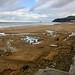 La mar lleva cantidada de arena en la playa de Zaarutz