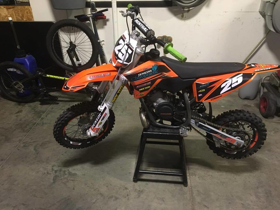 Custom KTM Graphics And Rim Decals For Leidigh Racing A Stylemargin