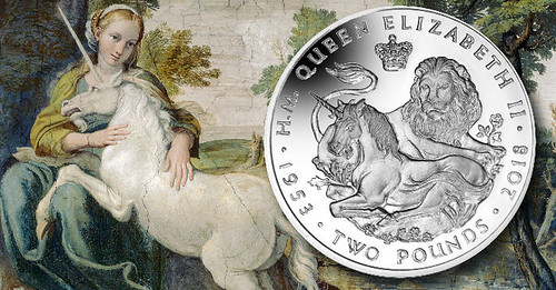 lion-and-unicorn coronation anniversary crown coin