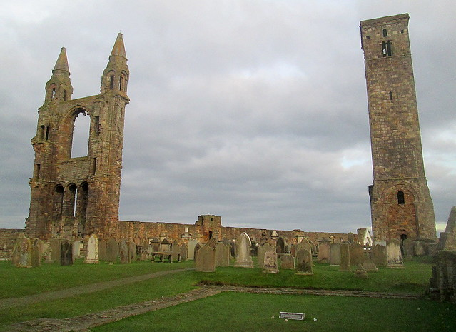 St Andrews Cathedral ruins and St Rule's tower