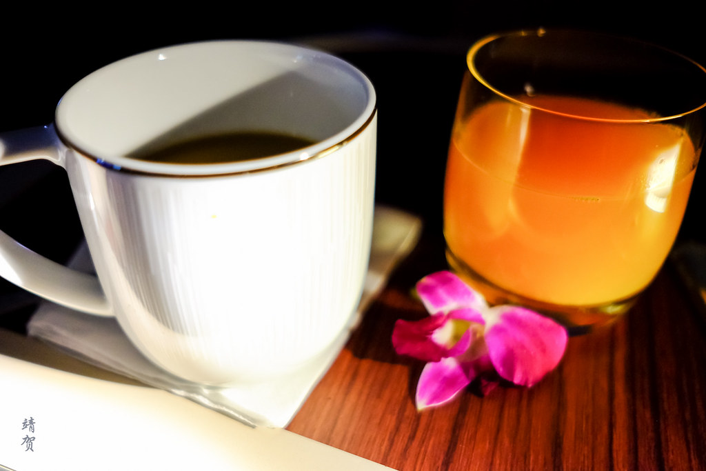 Coffee and orange juice