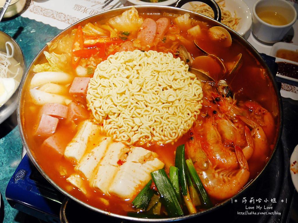 台北松山區韓國料理餐廳漢陽館部隊鍋起司