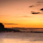 2. Detsember 2017 - 6:44 - 寒い冬の朝、日の出少し前から気嵐が立ち始めました。