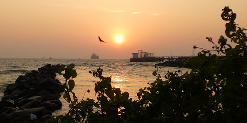 India - Kerala - Fort Vypin - sunset