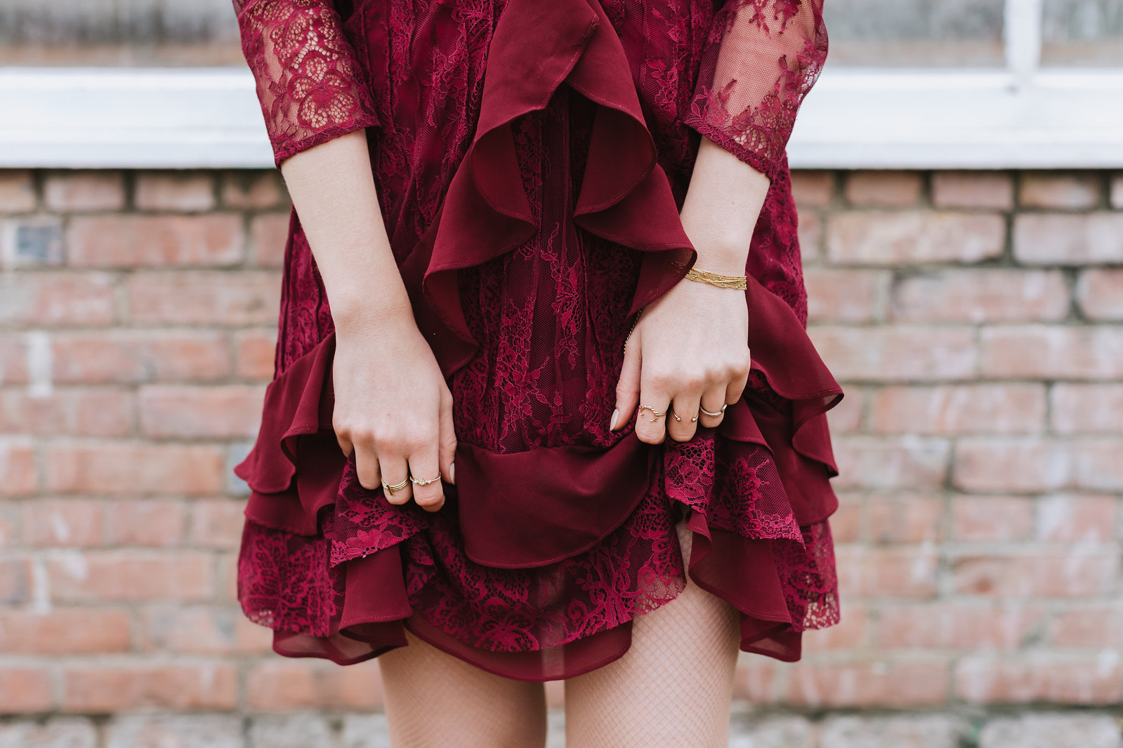 Burgundy For Love and Lemons Dress on juliettelaura.blogspot.com