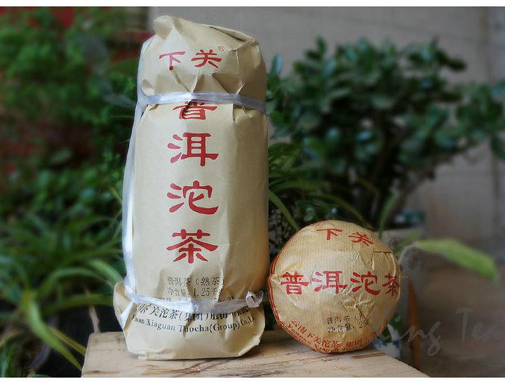 2017 XiaGuan  XiaoFaTuo 250g*5=1250g  Puerh Ripe Tea Shou Cha