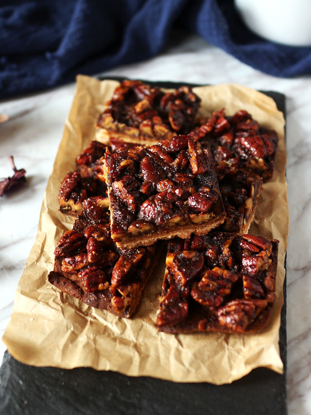 全素焦糖胡桃方塊 vegan-caramel-pecan-bars (1)