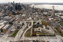 The changing landscape at the SR 99 tunnel's north portal