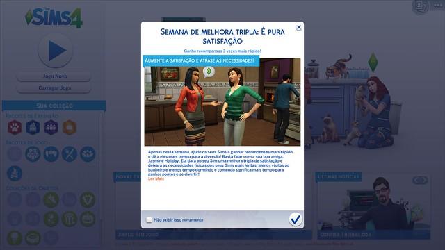 Semana da Melhora Tripla Retorna ao The Sims 4