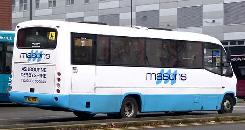K13 PSV 'masons', Ashbourne, Derbys. Mercedes-Benz 0814D / Plaxton Cheetah /4 on 'Dennis Basford's railsroadsrunways.blogspot.co.uk'