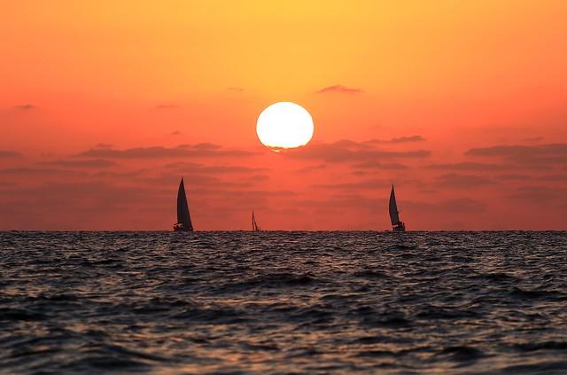 Sailing at sunset -Tel-Aviv beach - Follow me on Instagram:  @lior_leibler22
