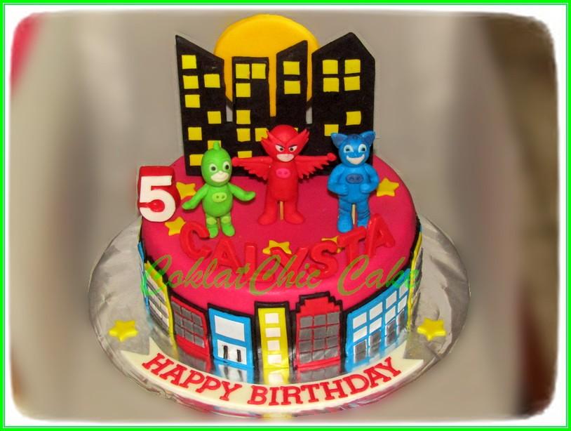 Cake PJ MASK CALYSTA - 18 cm