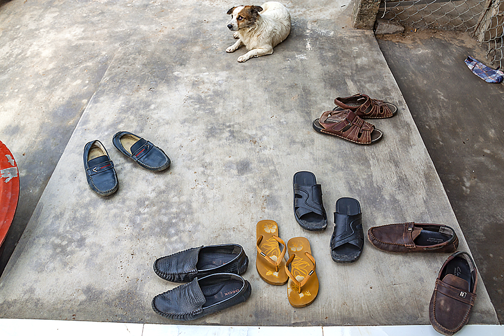 Shoes and dog--Ben Tre