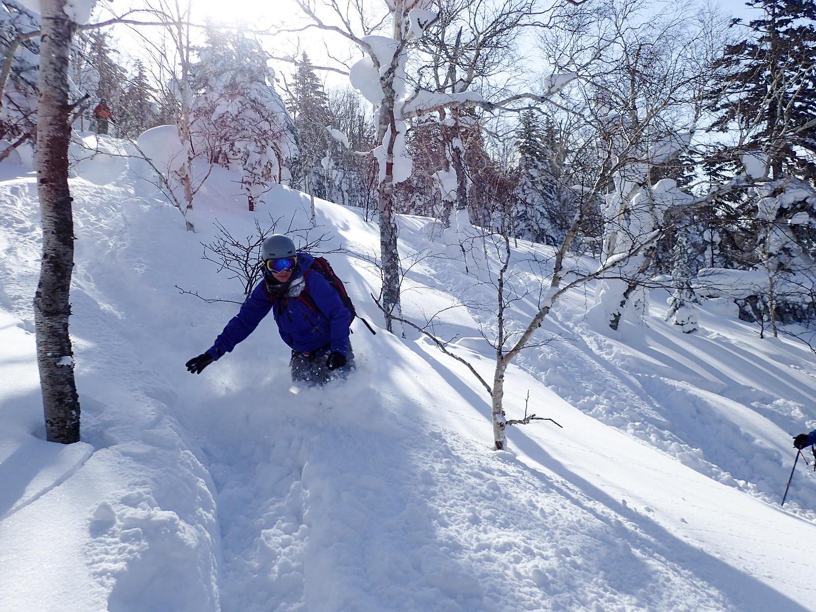 Mt. Furano backcountry ski touring (Hokkaido, Japan)