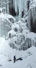 Ice Climbing at Franklin Falls
