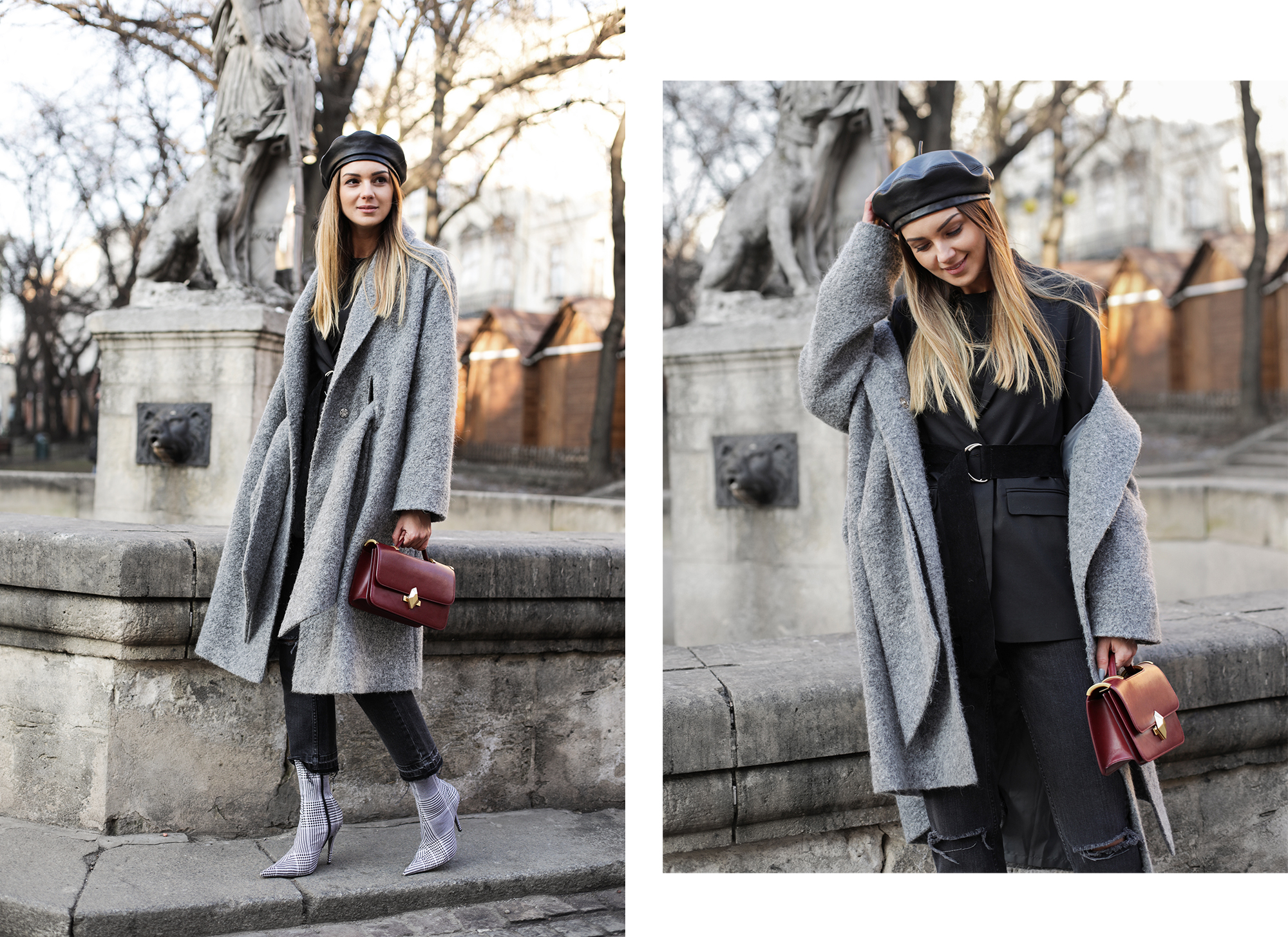 street-style-grey-coat-outfit-beret