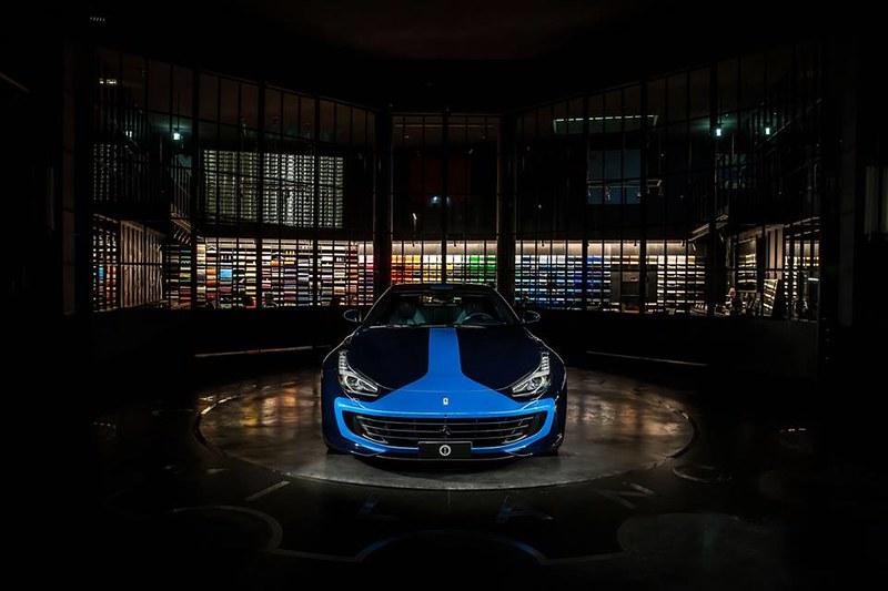 2018 Ferrari GTC4 Lusso, in Azzurro Lapo and LeMans Blue.