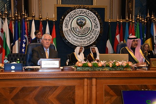 Secretary Tillerson and Kuwaiti Foreign Minister al-Khaled Participate in the Ministerial Meeting of the Global Coalition to Defeat ISIS
