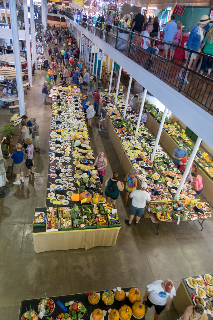 Agriculture Building Produce at Iowa State Fair