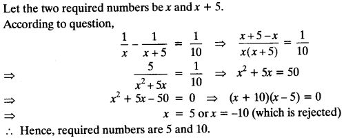 Quadratic Equations Chapter Wise Important Questions Class 10 Mathematics 69