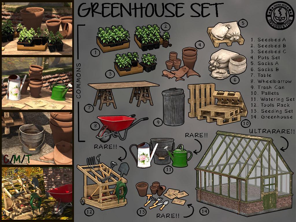 [IK] Greenhouse Set Gacha - Key - TeleportHub.com Live!