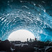 Looking out from the depths of an ice cave in Whistler by GoWhistler