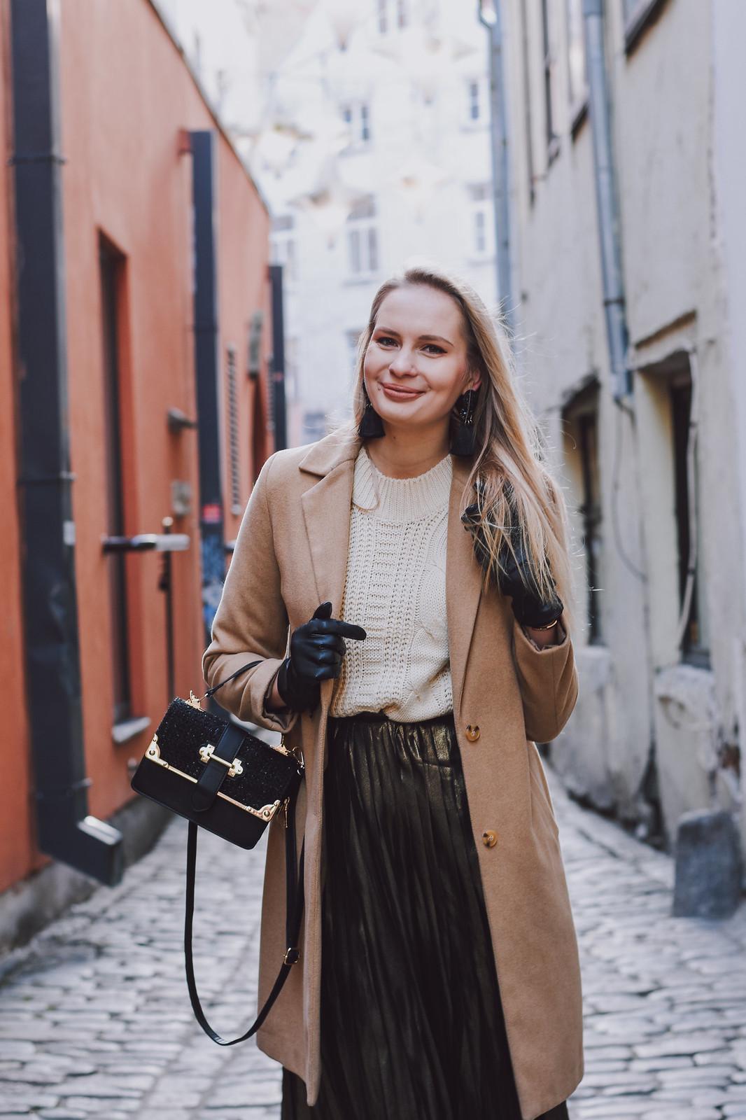 Camel coat outfit inspiratiob