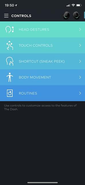 Bragi iOS App - Controls