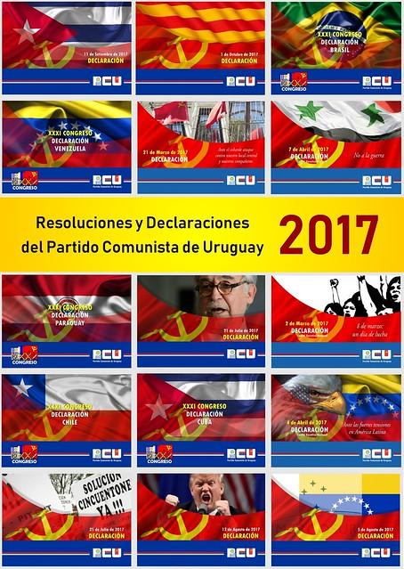 Resoluciones y Declaraciones del PCU 2017