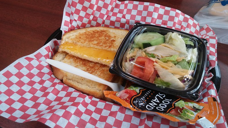 Grilled Cheese Sandwich at the Tillamook Cheese Factory