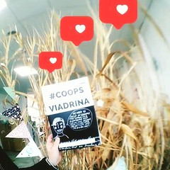 "Just arrived at the space: ""Coops Viadrina"" (DE/EN) Students developed this magazine to let others participate in their research and findings about platform cooperatives #coopsviadrina #platformcoop . Studierende entwickelten mit Crowdfunding-Unterstützun"