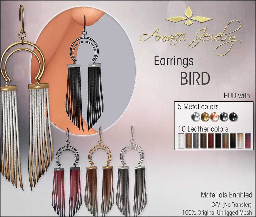 Amacci Earring Bird