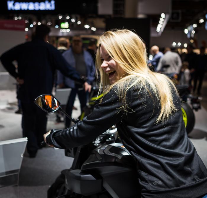 moottoripyörämessut 2018 helsinki mp-messut kawasaki