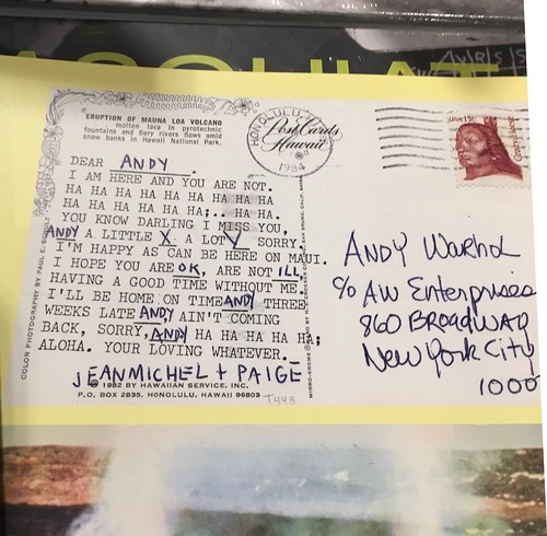 Basquiat postcard to Andy Warhol | by StarryKat