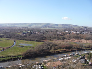 Lewes, River Ouse and South Downs towards Ditchling Beacon