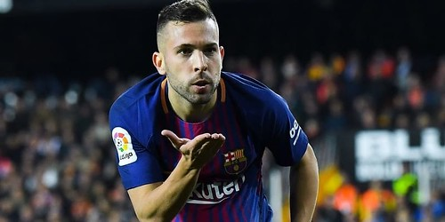 Alba mendedikasikan gol Barcelona untuk pacar