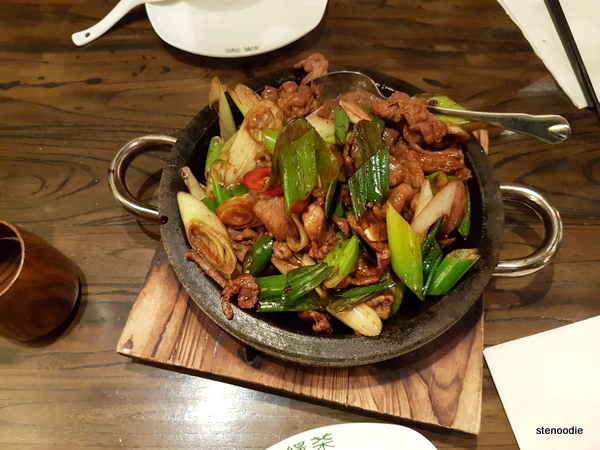 Stir Fried Lamb on Sizzling Hot Stone Plate