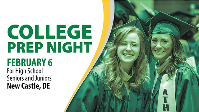 Wilmington University invites college-bound students and their families to College Prep Night on Feb. 6 at the New Castle campus to discuss the admission process, financial aid availability, and the WilmU experience.