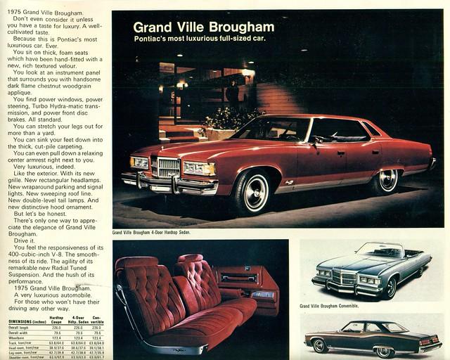 1975 Pontiac Grand Ville Brougham 4 Door Hardtop