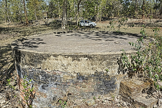 A closed well at the Bodal underground uranium mines near Kaudikasa village.